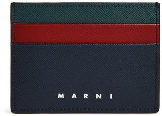 Marni Logo Striped Card Holder