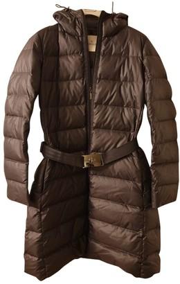 Moncler Long Grey Coat for Women