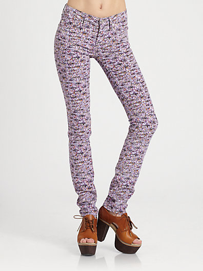 Marc by Marc Jacobs Lou Tweed-Print Cord Jeans