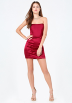 Bebe Miley Satin Strapless Dress