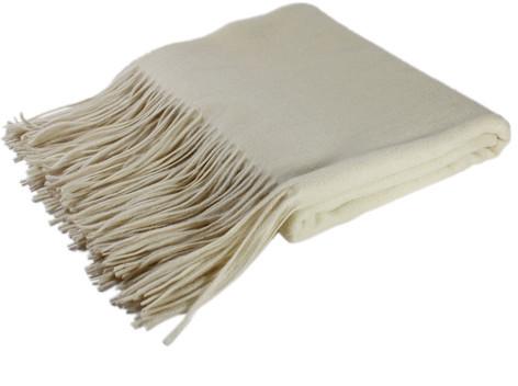pür cashmere Waterwave Throw Cream