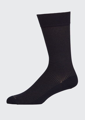 Marcoliani Milano Men's Micro Pin-Dot Socks