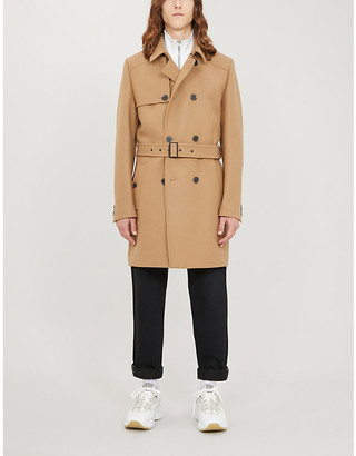 HUGO Double-breasted wool-blend trench coat