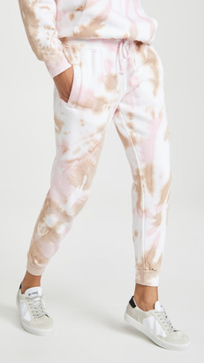 Worthy Threads Pink Camel Tie Dye Joggers