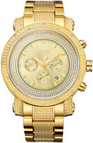JBW Victor Mens Diamond- and Crystal-Accent Gold-Tone Stainless Steel Watch JB-8102-F
