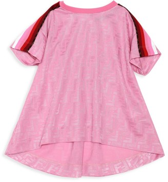 Fendi Little Girl's & Girl's Stripe-Sleeve FF T-Shirt
