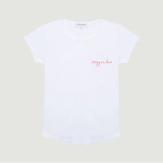 Maison Labiche White Crazy In Love Embroidered T Shirt - xs