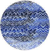 David Jones Shibori Blue Cheveron Side Plate 23cm