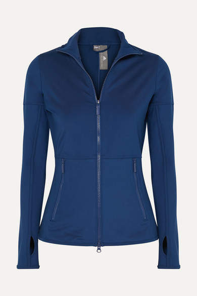 adidas by Stella McCartney Parley For The Oceans Essentials Climalite Stretch-jersey Jacket - Blue