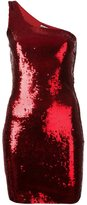 Saint Laurent sequin embellished one-shoulder dress