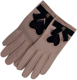 Gucci Beige Leather Gloves