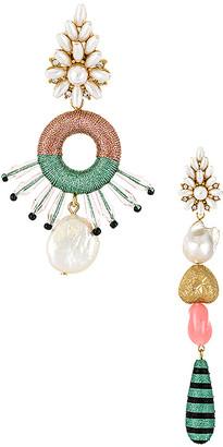MaryJane Claverol Pinata Mismatched Earrings