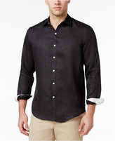 Tasso Elba Men's Textured 100% Linen Long-Sleeve Shirt, Created for Macy's