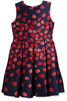 Oscar de la Renta Degrade Poppies Mikado Party Dress, Size 2-14