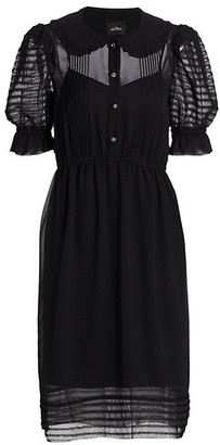 Marc Jacobs The Kat Short-Sleeve Collared Dress
