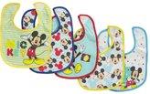 "Disney Mickey Mouse ""Shhh, I'm Hiding"" 5-Pack Bibs"