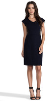Rebecca Taylor Tweed and Leather Shift Dress
