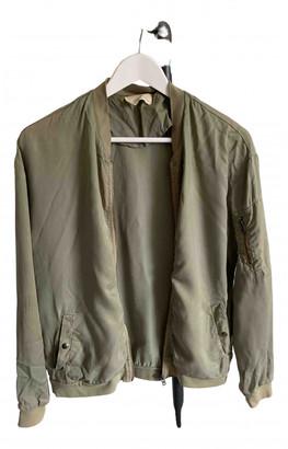 American Vintage Khaki Cotton Leather jackets