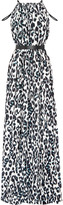 Issa Chantel leopard-print crepe maxi dress