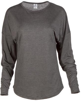 Venley Women's Tee Shirts Charcoal - Charcoal Oversize Long-Sleeve Tee - Women