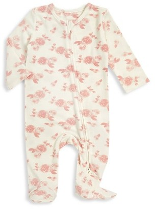 Aden Anais Baby Girl's Floral-Print Long-Sleeve Footie