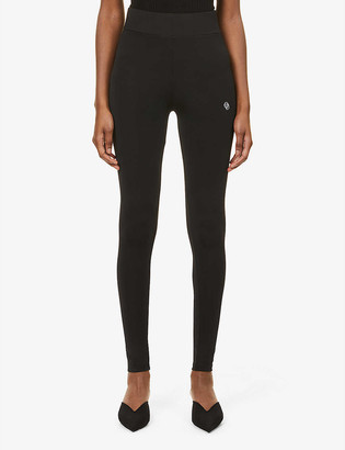 O'dolls Crest logo-embroidered mid-rise stretch-woven leggings