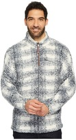 True Grit Frosty Tipped Pile Big Plaid 1/4 Zip Pullover Men's Clothing