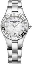 Baume & Mercier Women's Swiss Linea Diamond (1/3 ct. t.w.) Stainless Steel Bracelet Watch with Interchangeable Black Satin Strap 32mm M0A10072