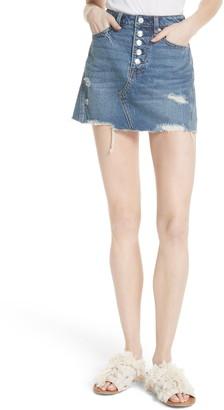 Free People A-Line Denim Skirt