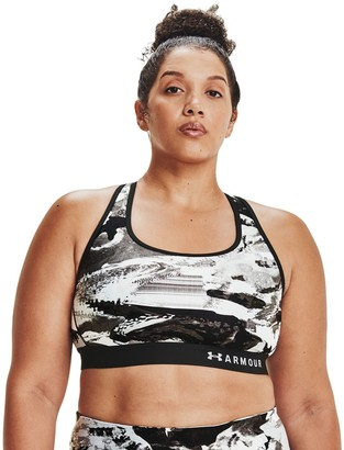 Under Armour Plus Size Crossback Printed Sports Bra