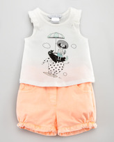 Little Marc Jacobs Penguin Graphic Tee