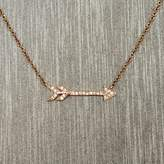 Rocks With Soul Diamond Arrow Necklace Rose Gold
