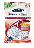 Dentek Complete Clean Floss Picks with Advanced Fluoride Coating, 90 Count by DenTek