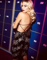 Girls On Film Embellished Velvet Dress