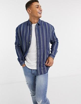 Asos DESIGN 90s oversized denim stripe shirt
