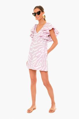 Oliphant Zebra Lilac Flirty V-Neck Dress