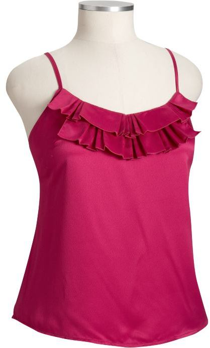 Old Navy Women's Plus Ruffled Charmeuse Camis