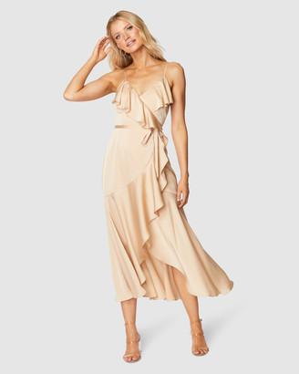 Pilgrim Women's Neutrals Wrap Dresses - Adana Midi Dress - Size One Size, 10 at The Iconic