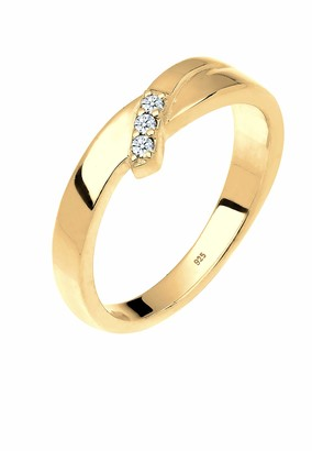 Diamore Women's 925 Sterling Silver Solitaire Engagement Ring Q 0602622718_56