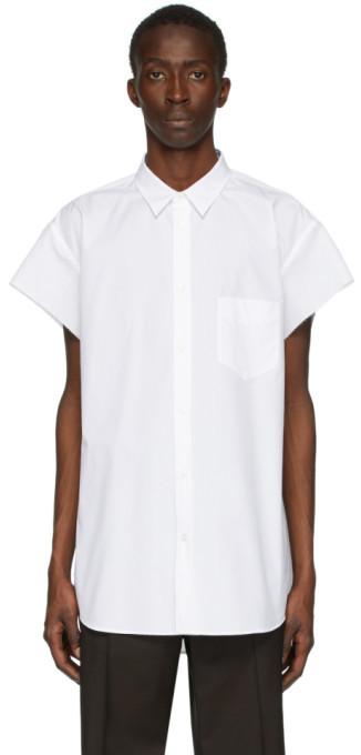 Maison Margiela White Cap Sleeve Shirt