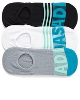 adidas Women's 3-Pack Adistripe Super No-Show Socks