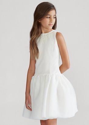 Ralph Lauren Embroidered Silk Tulle Dress