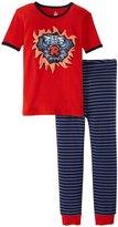 Petit Lem Superhero 2 Piece Pajamas (Toddler/Kid) - Red-2