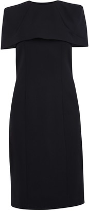 Givenchy Removable Cape Fitted Dress