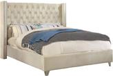 Verlaine Aiden Cream Velvet Bed