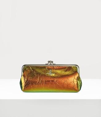 Vivienne Westwood Archive Orb Double Frame Purse With Chain Plain Orange