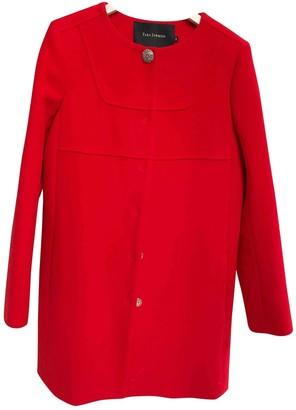 Tara Jarmon Red Wool Coat for Women