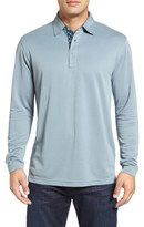 Bugatchi Men's Long Sleeve Pique Polo