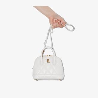 Balenciaga white Ville XXS quilted leather bag