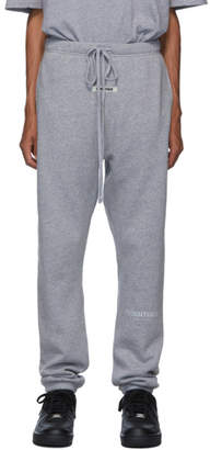 Essentials Grey Reflective Logo Lounge Pants